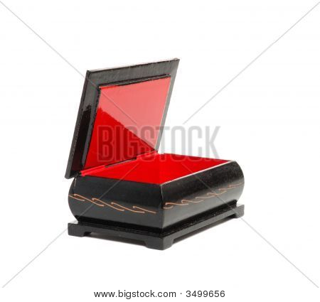 Anciend Old Casket Red And Black