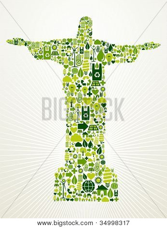 Brasil ir ilustración concepto verde