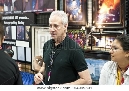 SAN DIEGO, CALIFORNIA - JULY 13: Actor Brent Spiner (data from Star Trek Next Generation) while at Comicon in the Convention Center on July 13, 2012 in San Diego, California.