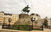 foto of bohdan  - Monument to Ukrainian historical and political leader hetman B - JPG