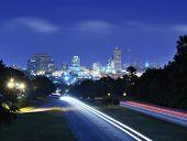 Постер, плакат: Горизонты города Колумбия Южная Каролина сверху Джарвис Каплан кв