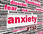 picture of aroused  - Anxiety disorder message conceptual design - JPG