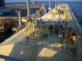 image of lng  - View of LNG vessel from the wheel House - JPG