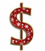 Christmas Dollar Sign