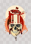 picture of blood drive  - Racing design template with racer skull - JPG