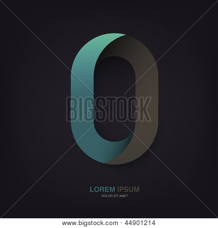 Infinite oval symbol template on dark lines texture, vector, EPS10