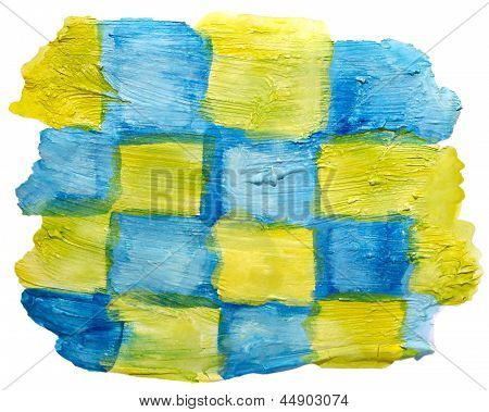 art yellow, blue watercolor isolated for your design
