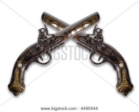 Old Flintlock Pistols