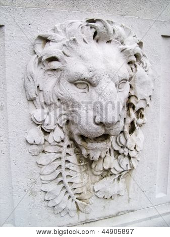 Lion's Head Sculpture