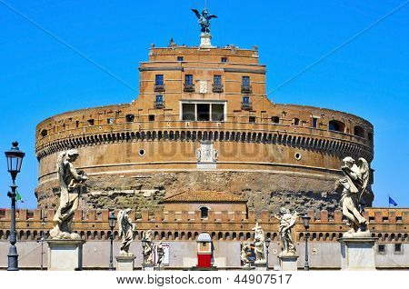 A view of the Castel Sant Angelo in Rome, Italy