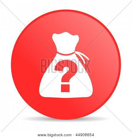 riddle red circle web glossy icon