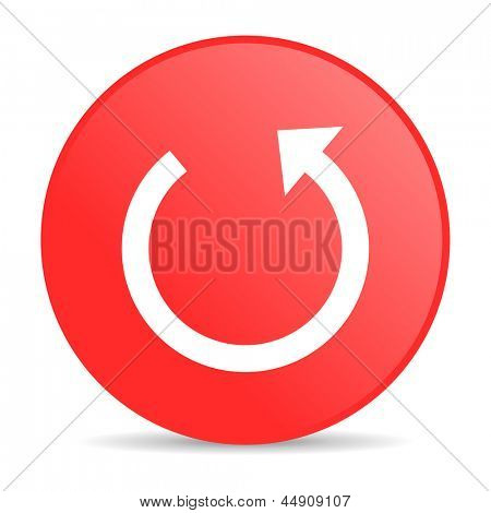 rotate red circle web glossy icon