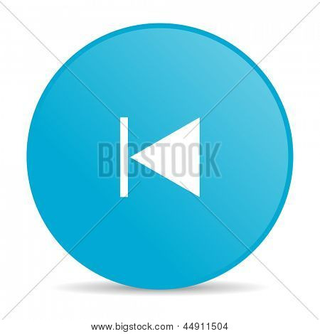 prev blue circle web glossy icon