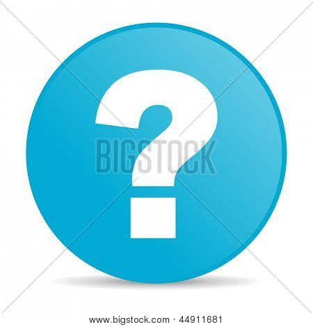 question mark blue circle web glossy icon