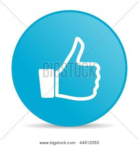 like blue circle web glossy icon