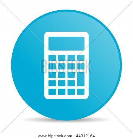 calculator blue circle web glossy icon