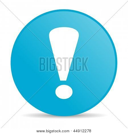 exclamation sign blue circle web glossy icon