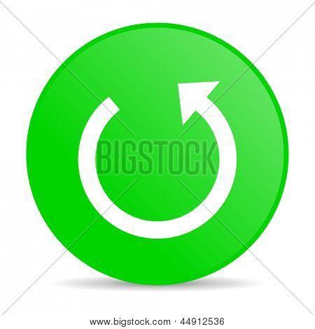 rotate green circle web glossy icon