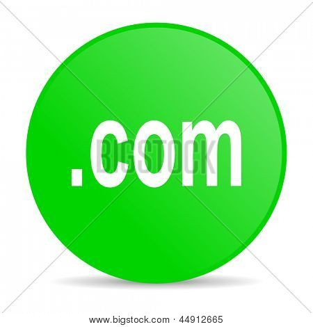 com green circle web glossy icon