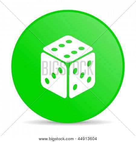 dice green circle web glossy icon