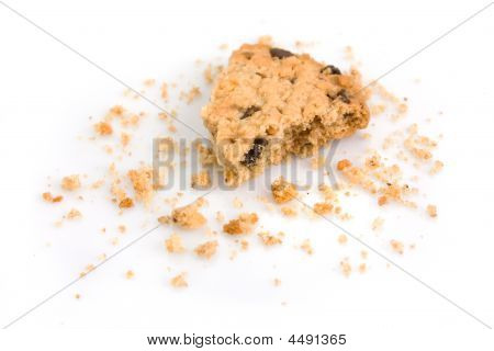Last Bite Of A Chocolate Chip Cookie