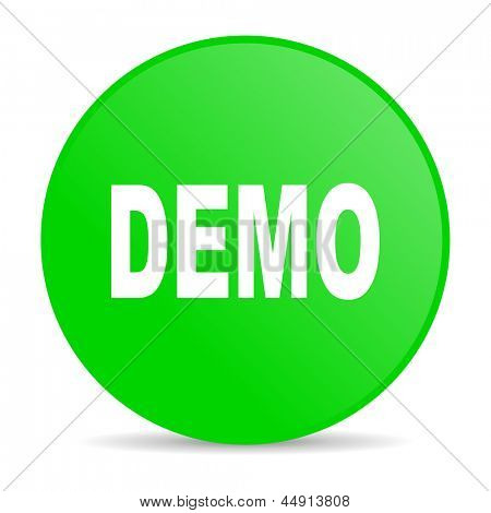 demo green circle web glossy icon