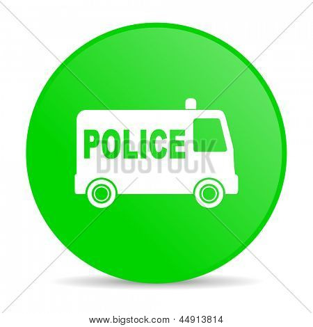 police green circle web glossy icon