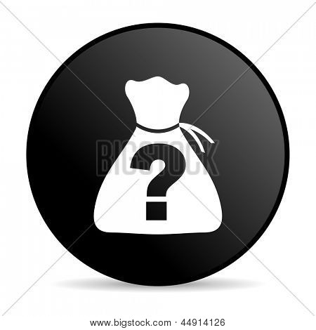 riddle black circle web glossy icon