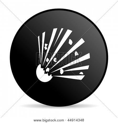 bomb black circle web glossy icon