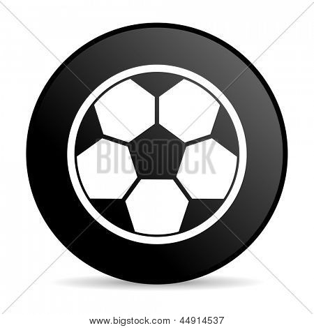 soccer black circle web glossy icon