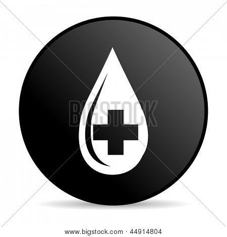 血黑色圆圈 web 光泽图标