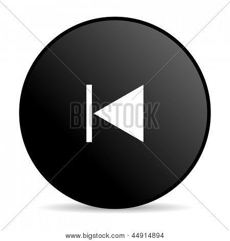 prev black circle web glossy icon