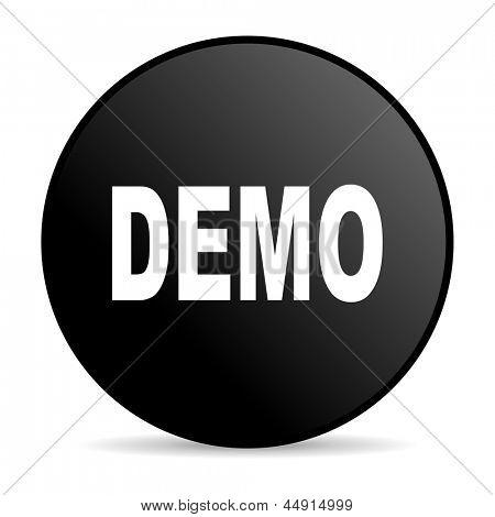 demo black circle web glossy icon