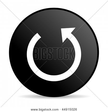 rotate black circle web glossy icon