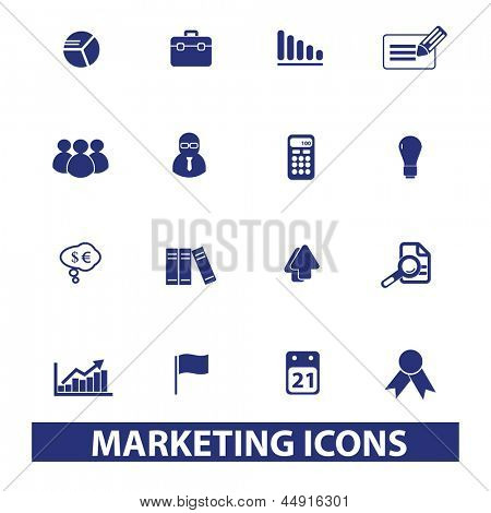 marketing, management, human resources icons, signs set, vector