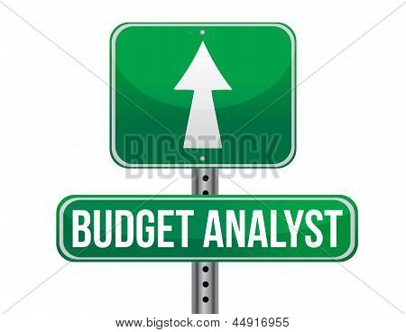 Budget Analyst Road Sign Illustration Design