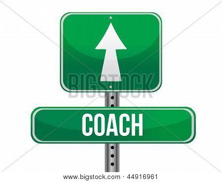 Treinador Road Sign ilustração Design