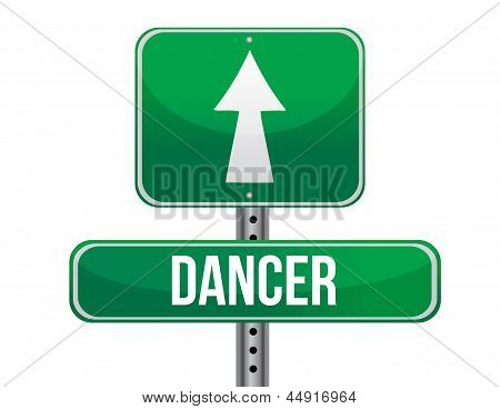 Dancer Road Sign Illustration Design