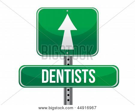 Dentist Road Sign Illustration Design