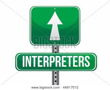 Intérpretes Road Sign ilustração Design