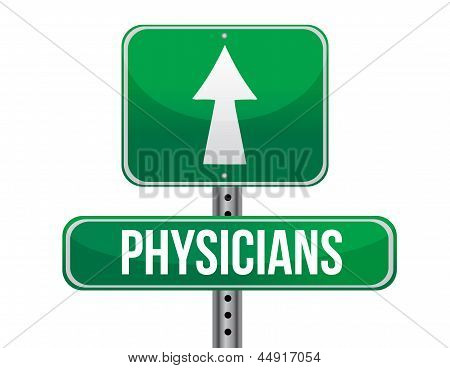 Physicians Road Sign Illustration