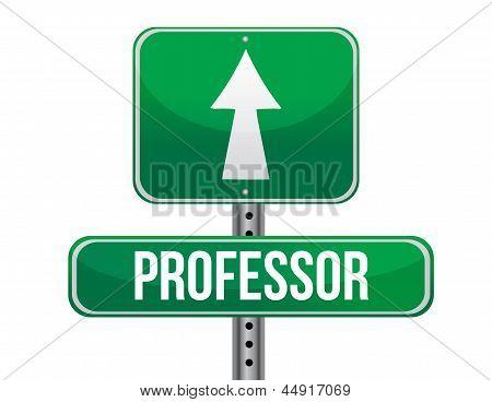 Professor Road Sign