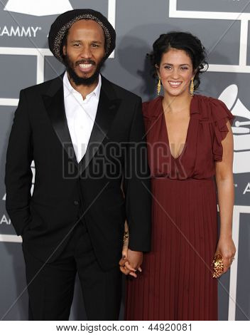 LOS ANGELES - FEB 10:  Ziggy Marley arrives to the Grammy Awards 2013  on February 10, 2013 in Los Angeles, CA.