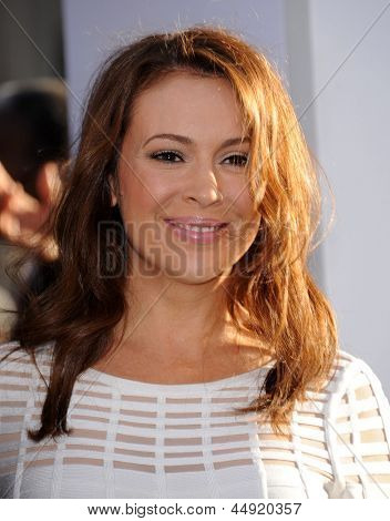 LOS ANGELES - APR 09:  Alyssa Milano arrives to the '42' Hollywood Premiere  on April 09, 2013 in Hollywood, CA