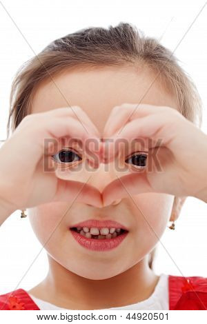 Girl Making Heart Sign