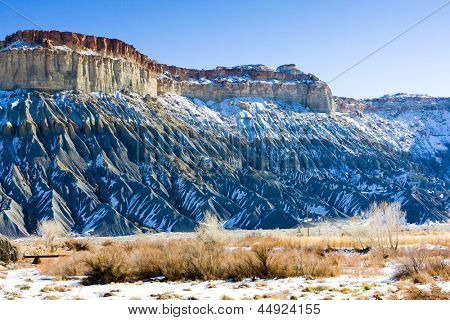 winter landscape of Utah, USA