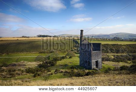The Ruins Of Wheal Betsy Engine House In Devon