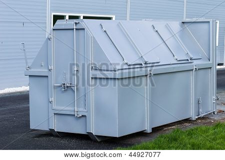 Grey Waste Container