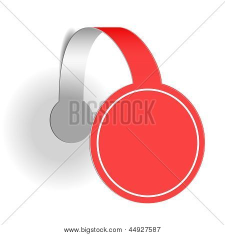 Red advertising wobbler