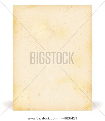 Brown beige grunge background faintly striped resembling old paper, parchment.